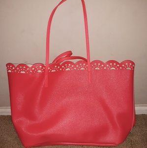 vibrant pink handbag/totes